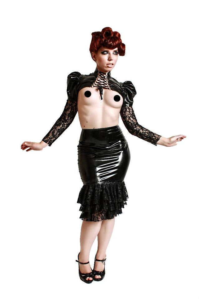 Latex and Lace Morgana Skirt