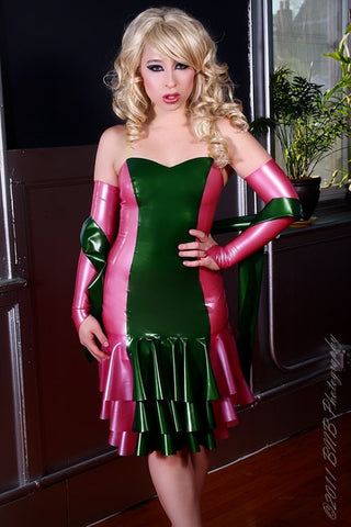 Complete Look: Latex Fleur Dress w/Gloves and Sash