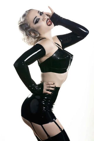 COMPLETE LOOK: Latex Vixen Lingerie Set