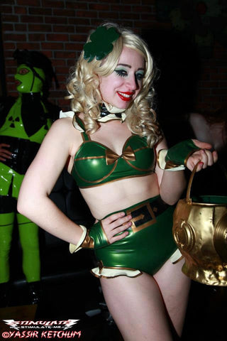 Latex Costume: Sexy Leprechaun