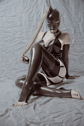 Latex Cuban Stockings w/Open Toe