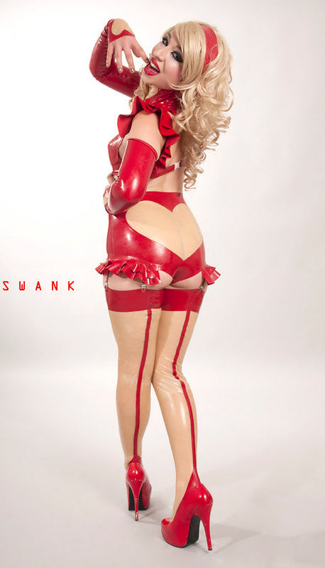 Latex Valentine Bottoms w/Garters