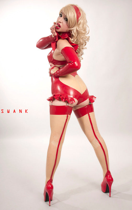 Latex Valentine Stockings