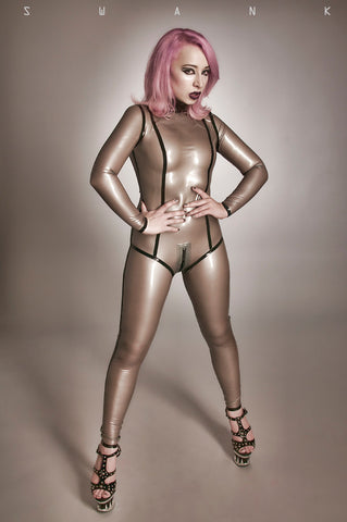 Latex Made-To-Measure Catsuit w/Trim