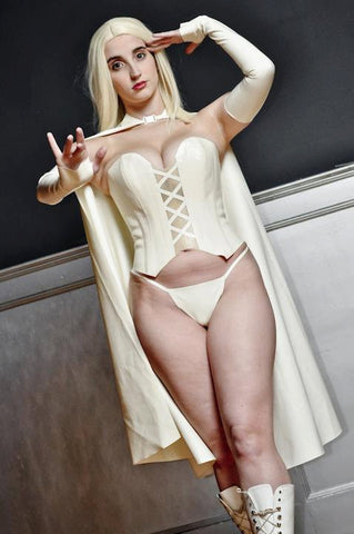 Latex Cosplay: White Queen costume