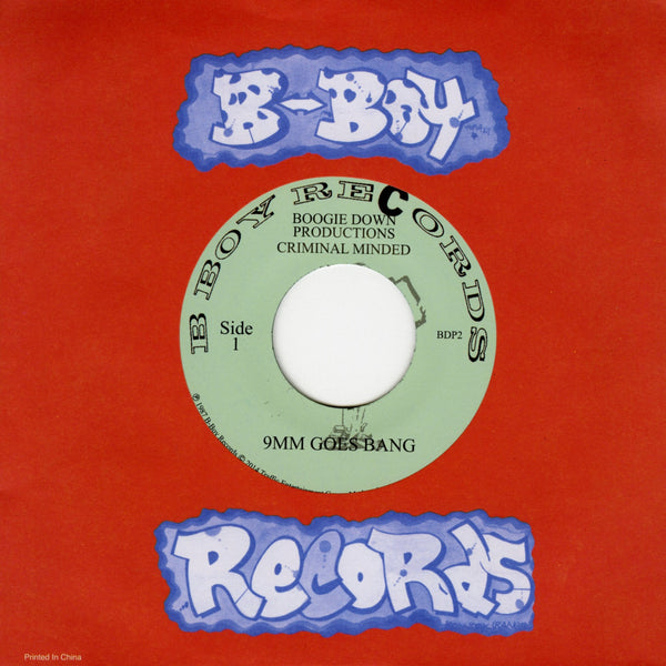 "Boogie Down Productions - 9mm Goes Bang/ Word From Our Sponsor-7""-South"