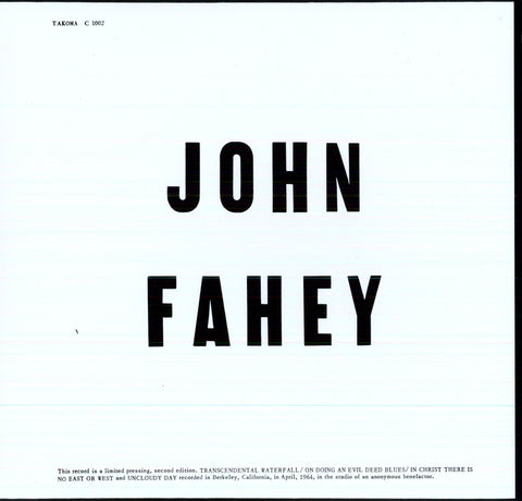 John Fahey - Blind Joe Death-Vinyl LP-South