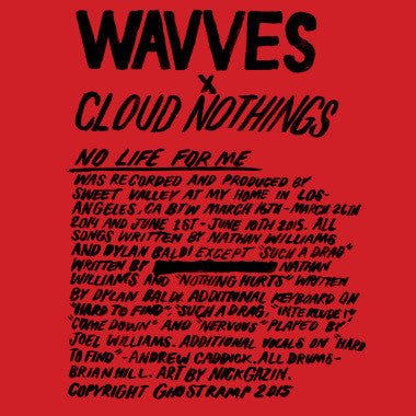 Wavves/ Cloud Nothings - No Life For Me-Vinyl LP-South