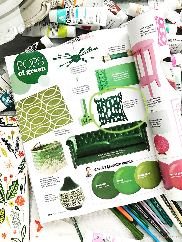 Pop of Green in HGTV Magazine