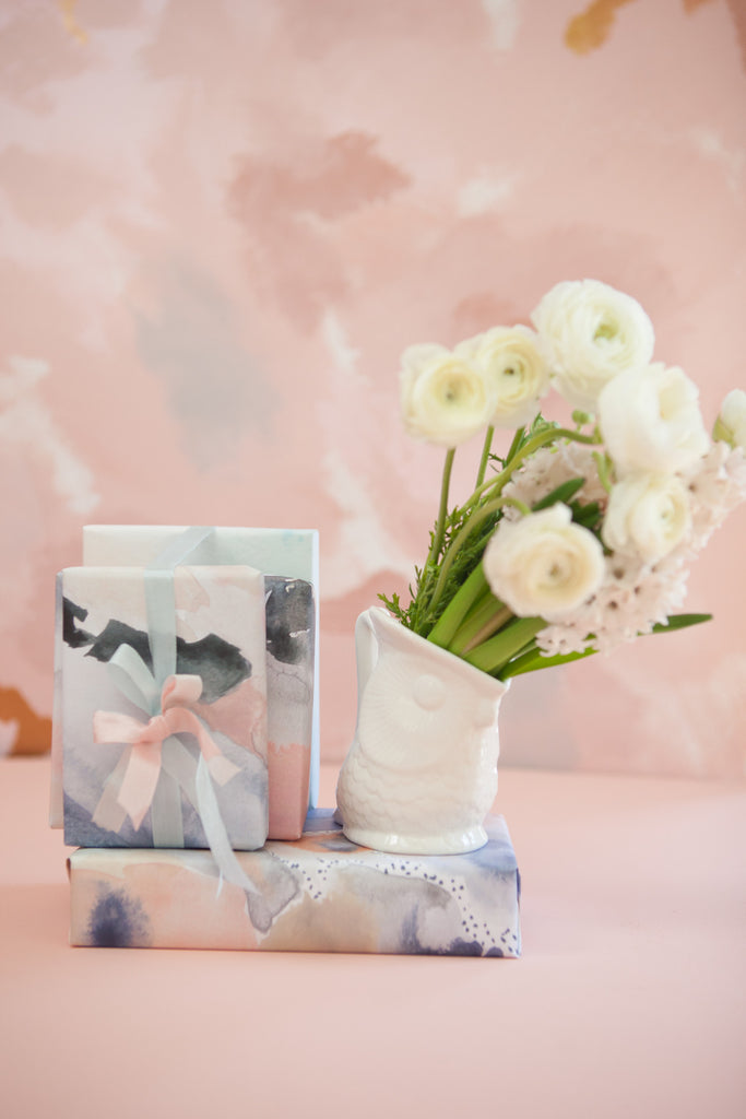 Rose Quartz and Serenity Gift Wrap