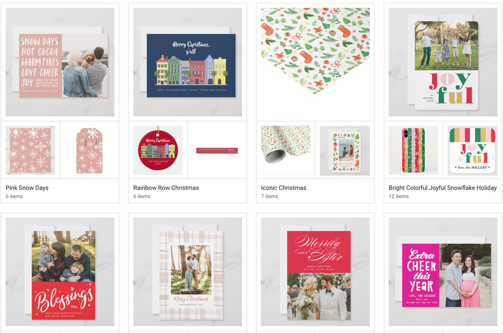 Christmas Photo Card Collection for Zazzle 2019