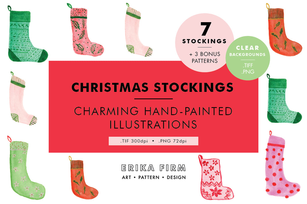 Christmas Stockings Illustrations for Creative Market