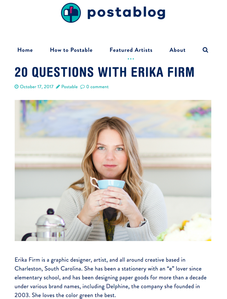 20 Questions with Erika Firm on Postable