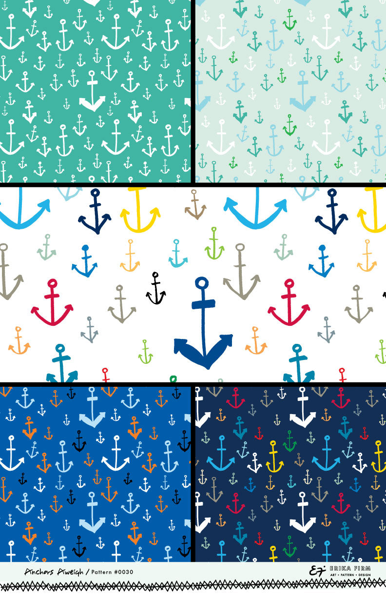 Anchors Aweigh Pattern 0030 by Erika Firm