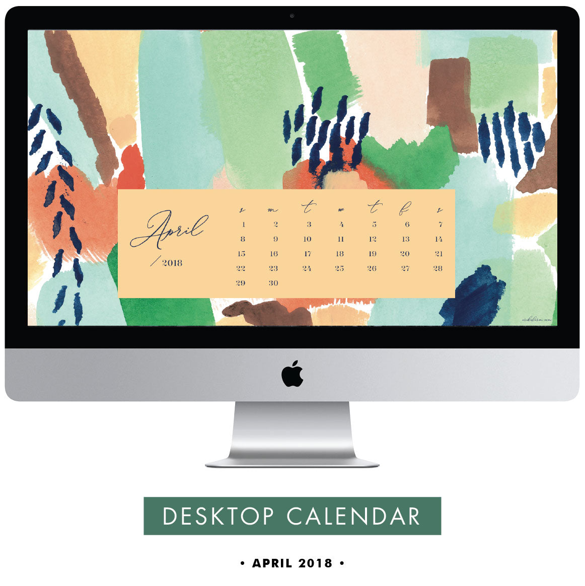 Download Free April 2018 Desktop Calendar by Erika Firm