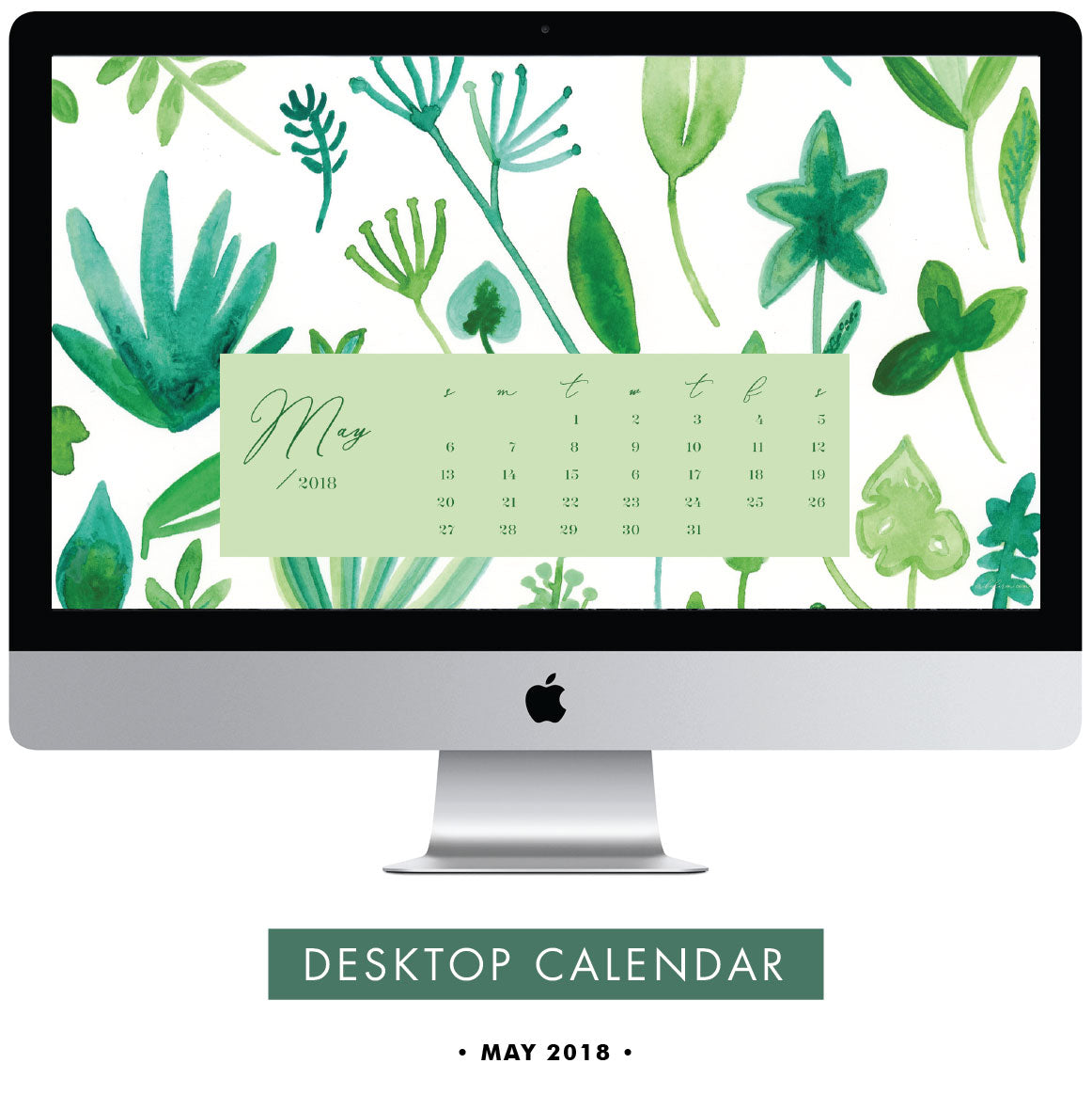 Download Free May 2018 Desktop Calendar by Erika Firm