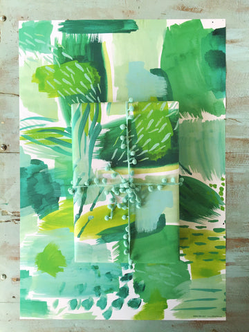 Green abstract by Erika Firm