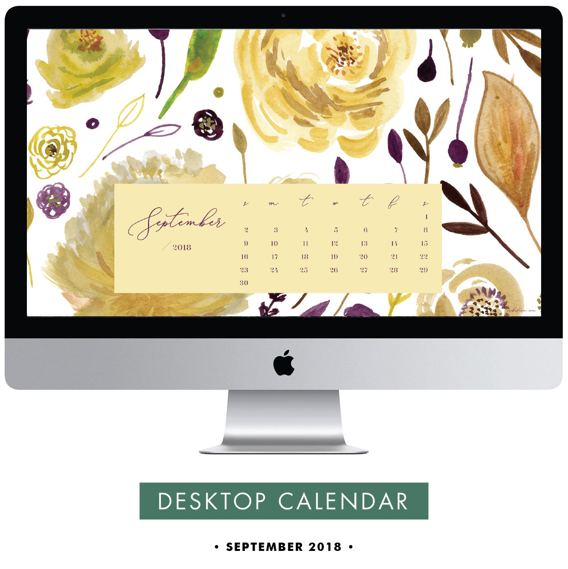 Download free September 2018 desktop calendar wallpaper by Erika Firm