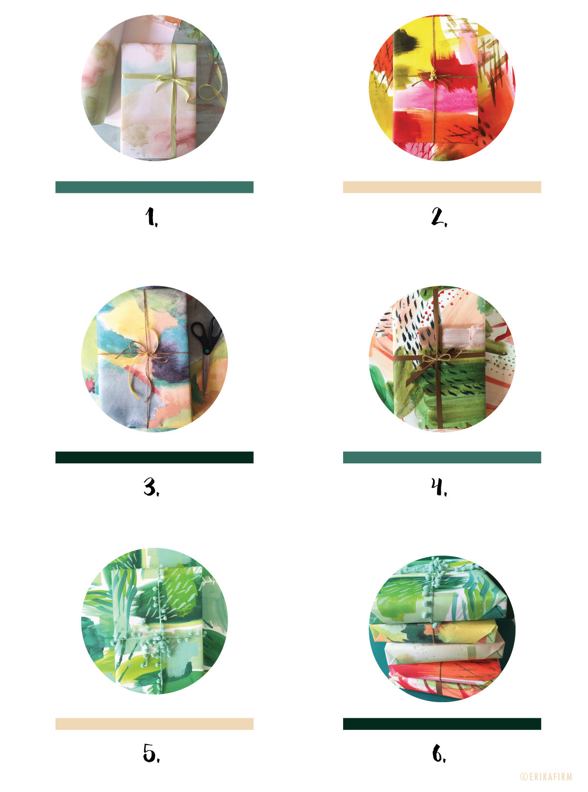 Abstract Gift Wrap by Erika Firm design chart