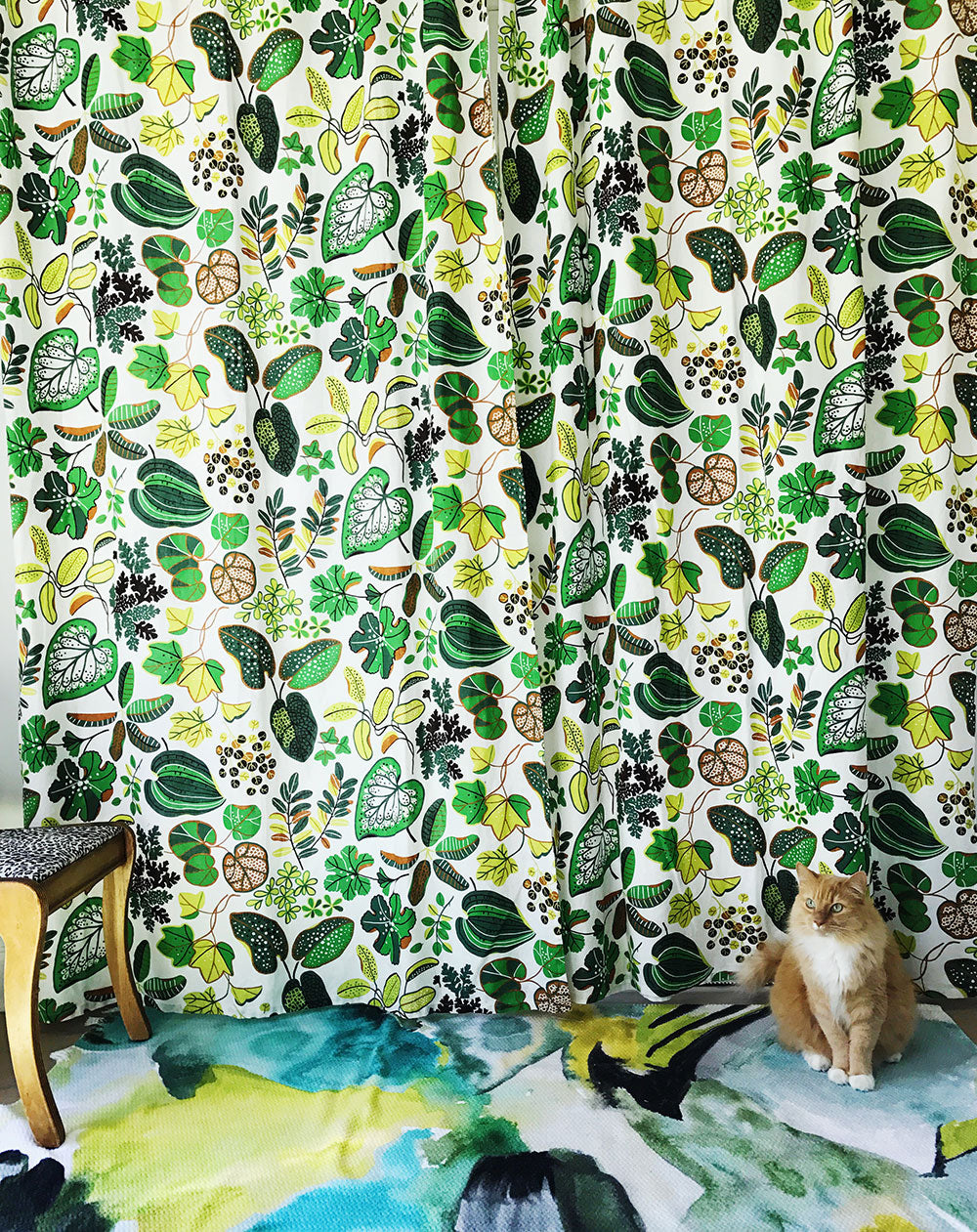Ajax-IkeaLeafCurtains-Green