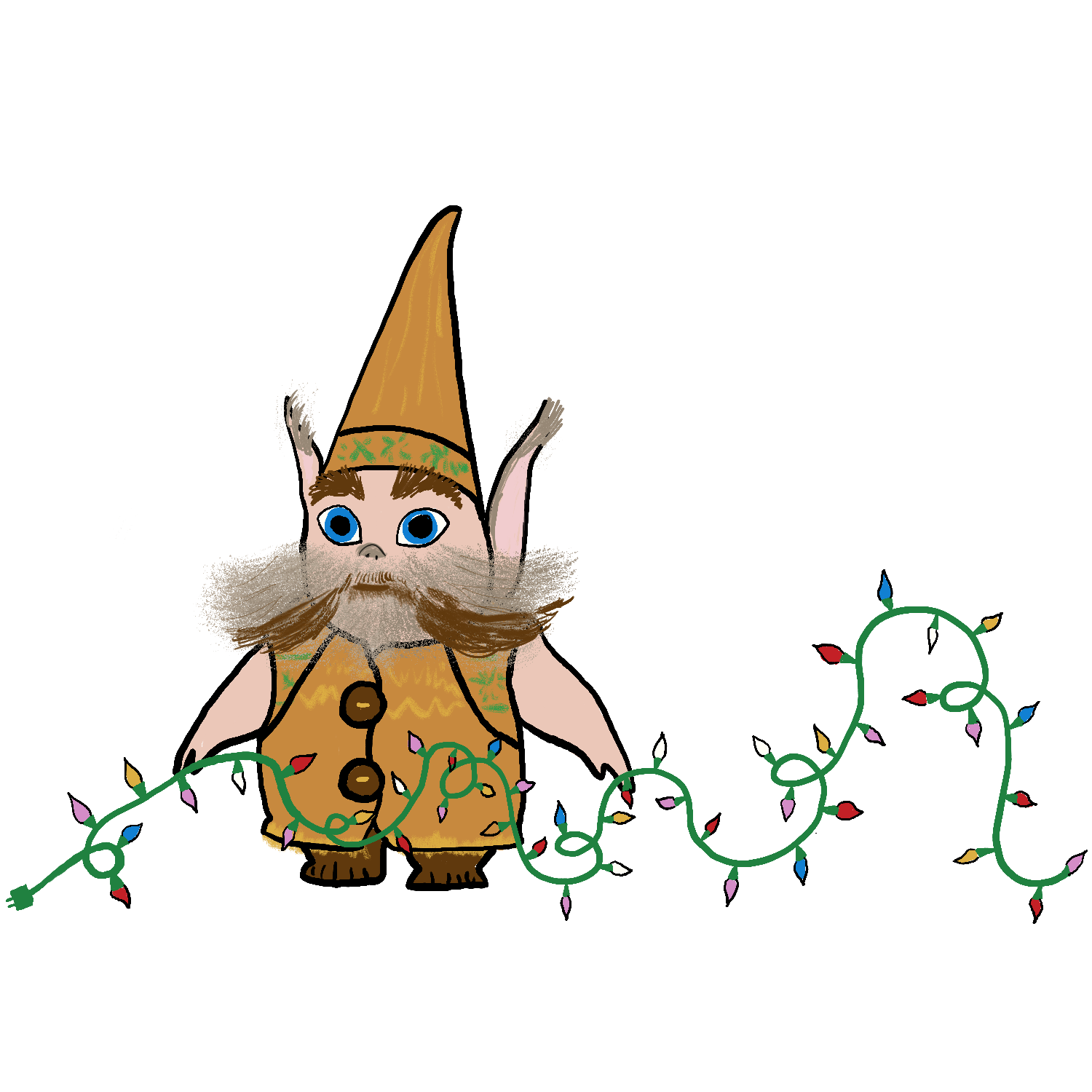 Bjorn the Elf from The Christmas Chronicles Movie Illustration by Erika Firm for Netflix