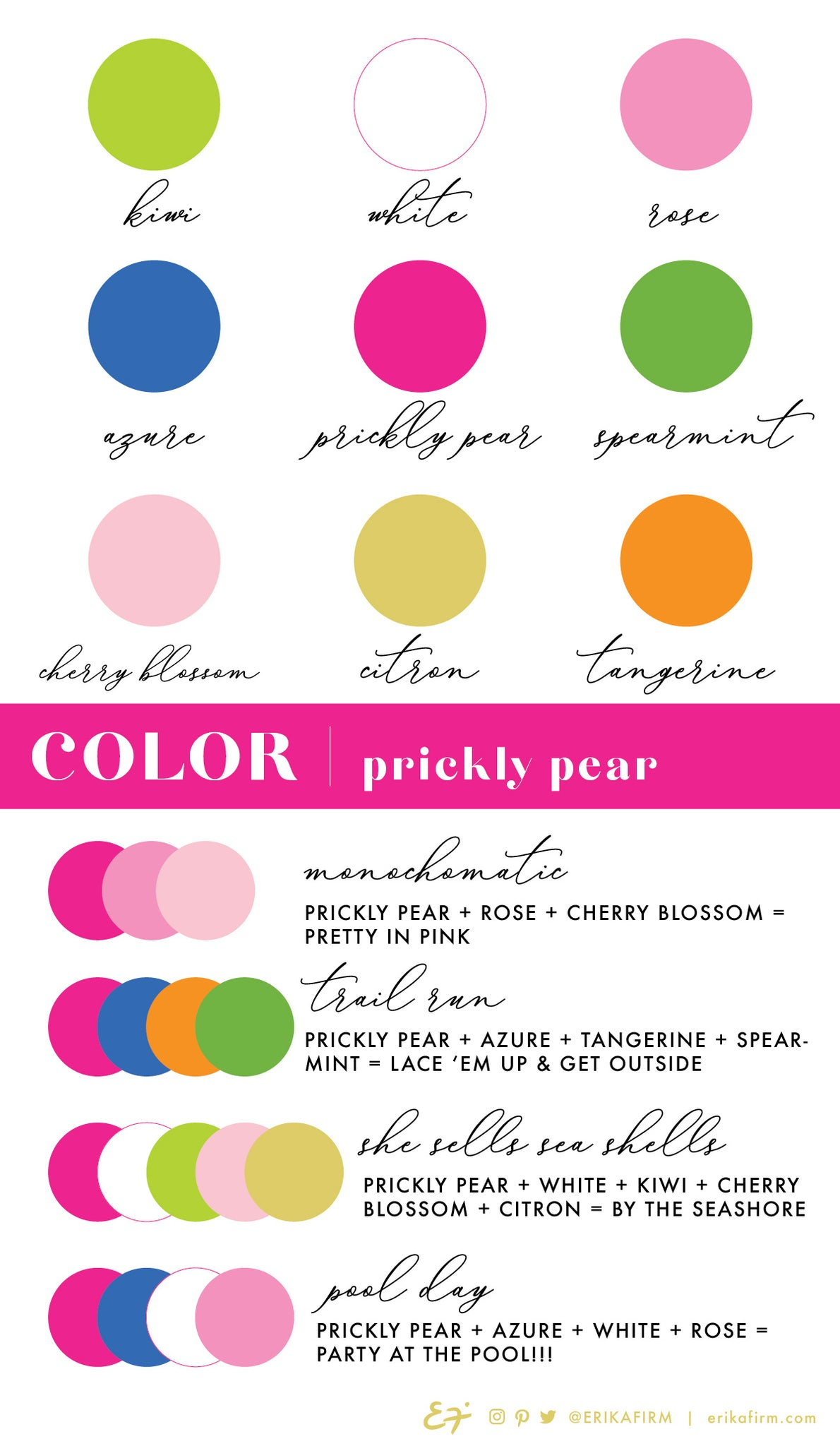 Prickly Pear color palette by Erika Firm