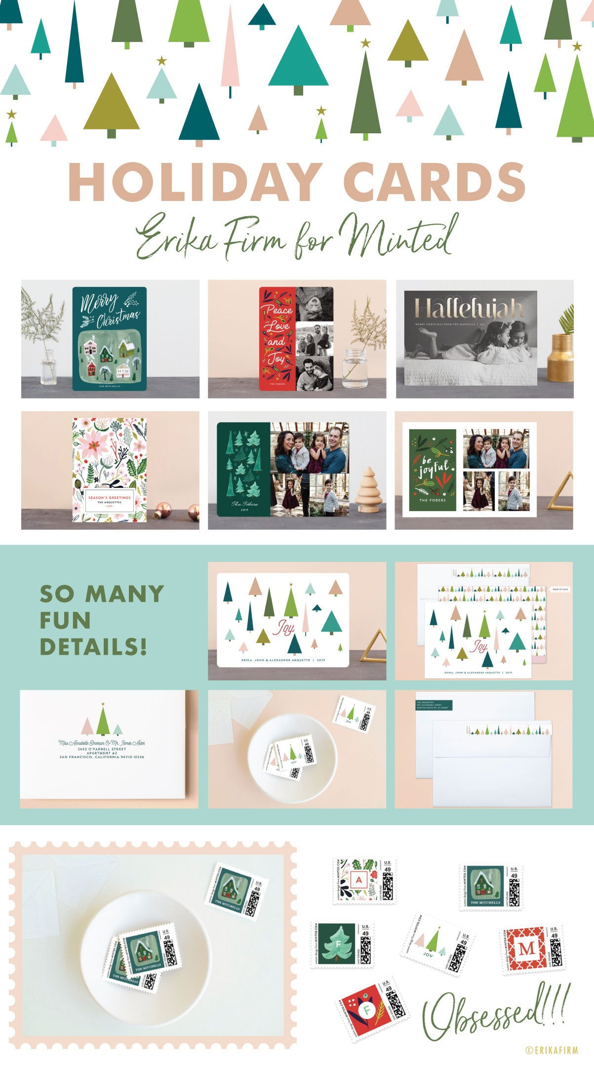 Holiday Photo Cards 2017 by Erika Firm for Minted