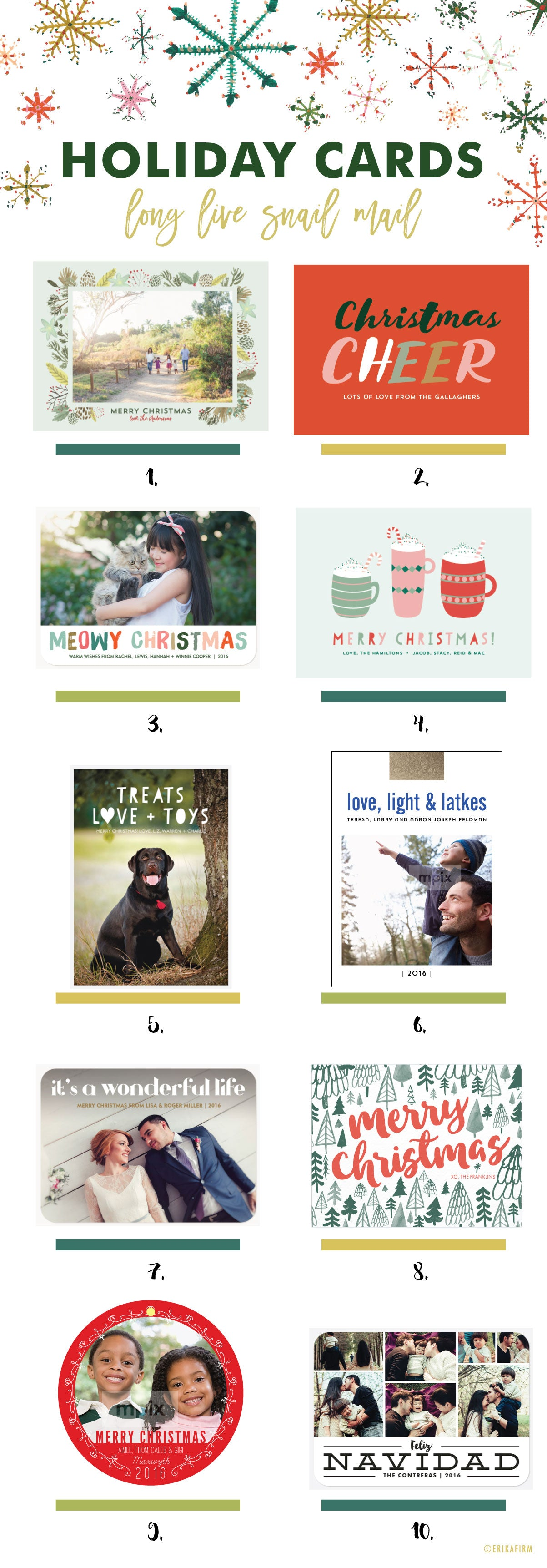 Holiday Photo Card Roundup by Erika Firm