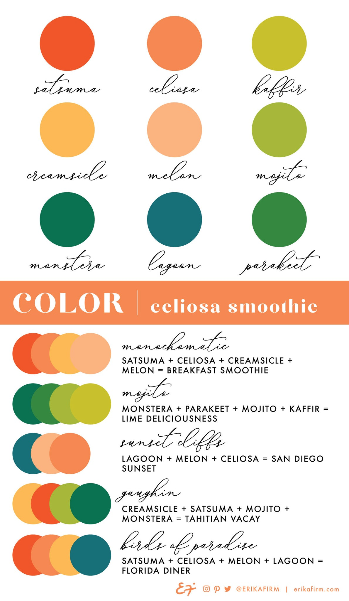 Color Palette Celiosa Orange by Erika Firm