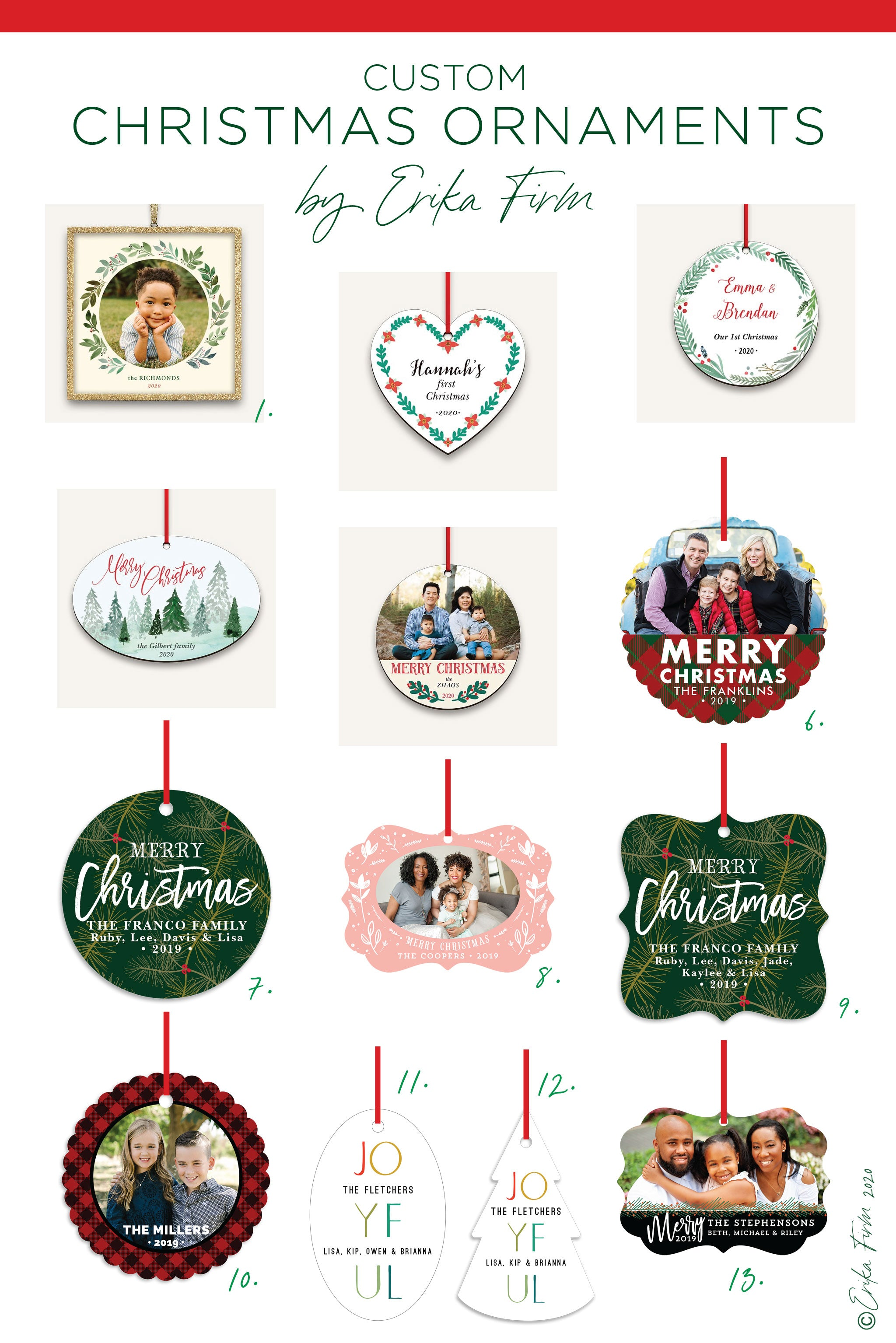 Custom Christmas Ornaments 2020 by Erika Firm