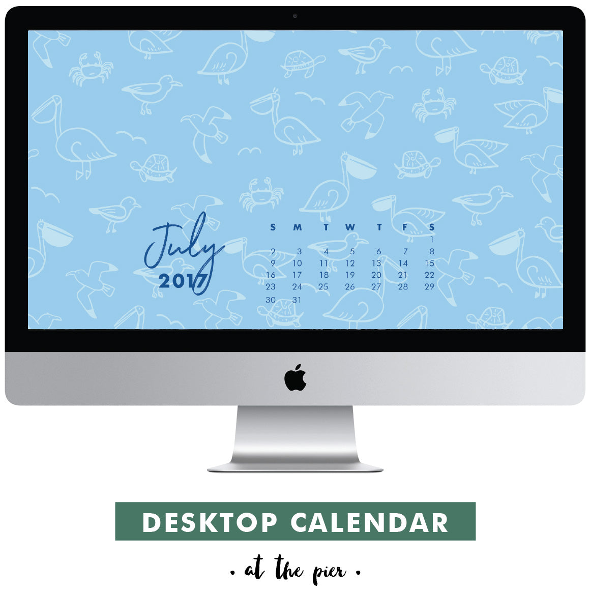 Download Free July 2017 Desktop Calendar