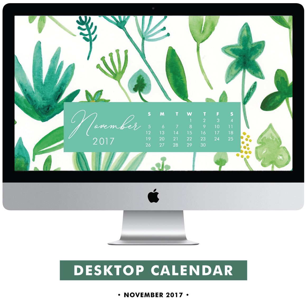 Download Free November 2017 Desktop Calendar Digital by Erika Firm
