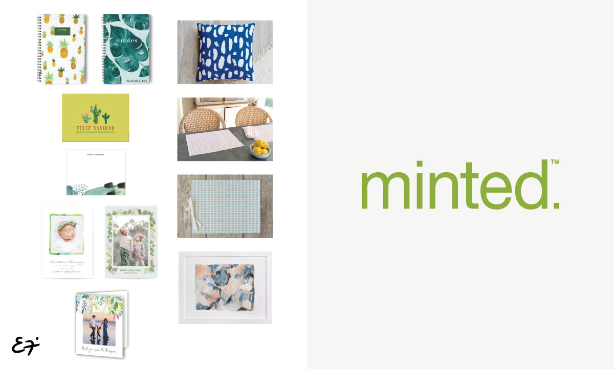 Erika Firm partnership with Minted