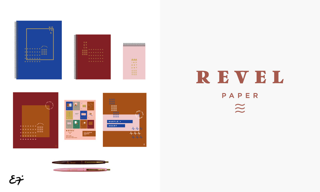 Erika Firm partnership with Revel Paper
