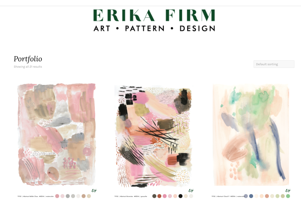 Erika Firm has a new portfolio