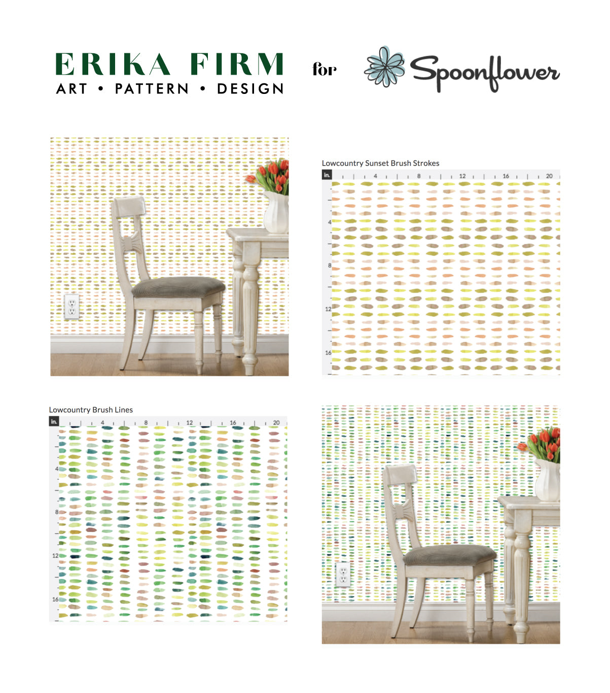 Erika Firm fabric collection by Erika Firm for Spoonflower