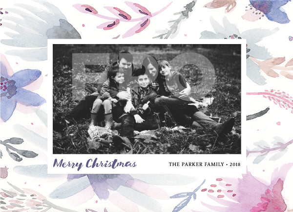 Winter Flower Christmas Photo Card by Erika Firm for American Greetings Cardstore