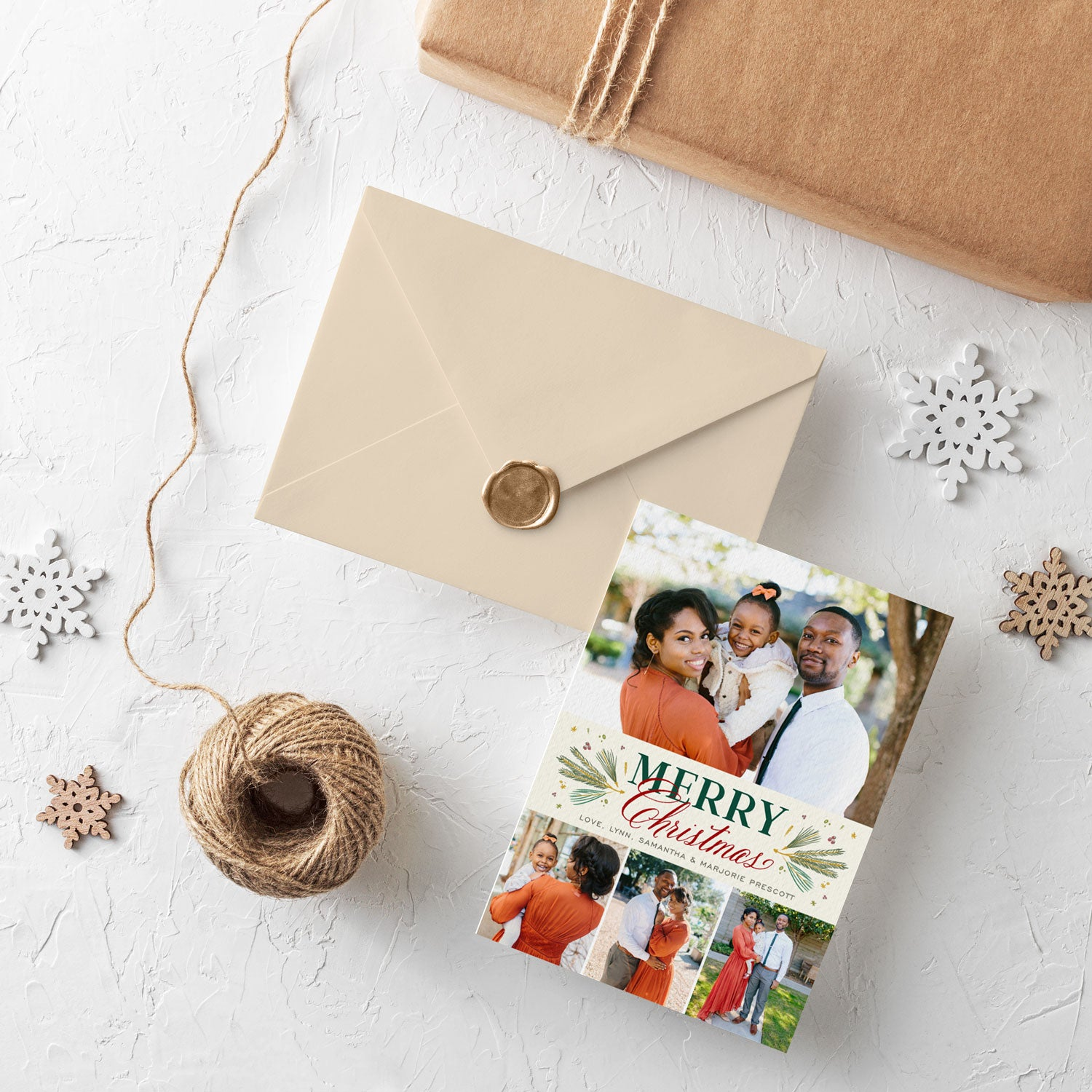 Traditional Pines 4 photo Christmas card by Erika Firm for Simply To Impress 2019