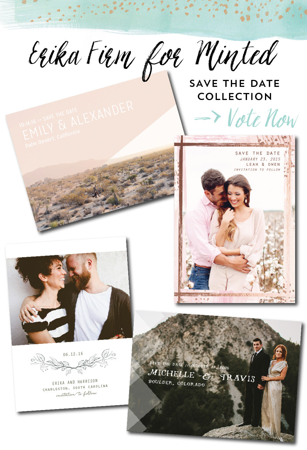 Erika Firm Save The Dates for Minted
