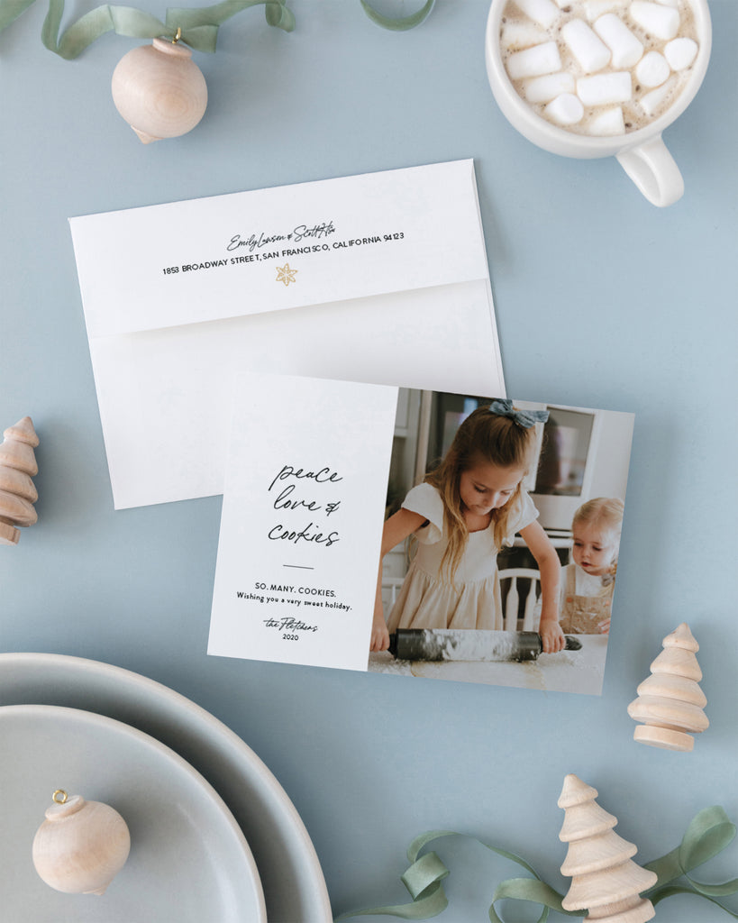 Peace Love and Cookies by Erika Firm for Minted Holiday 2020