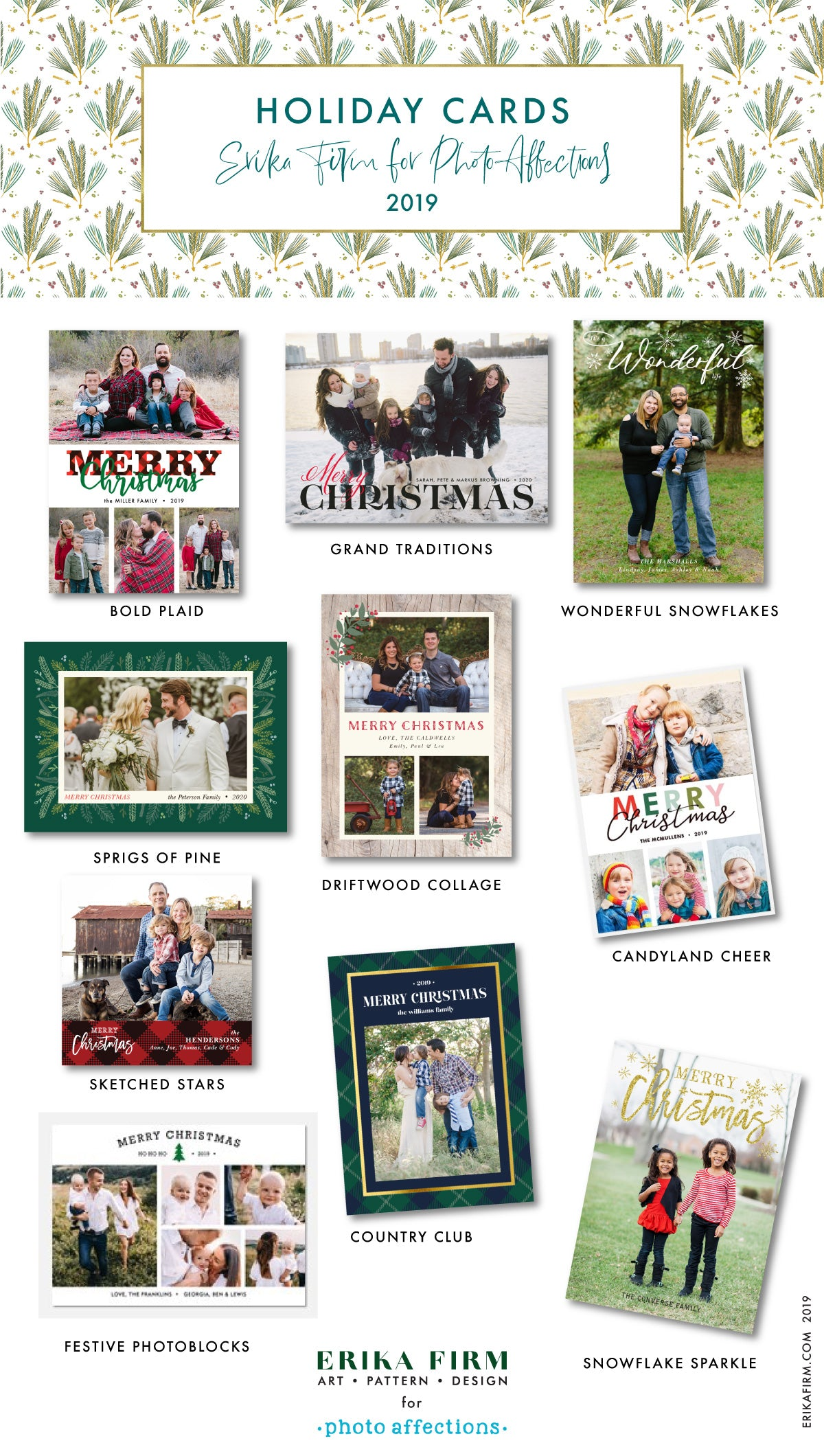 Holiday Card Collection 2019 by Erika Firm for Photo Affections