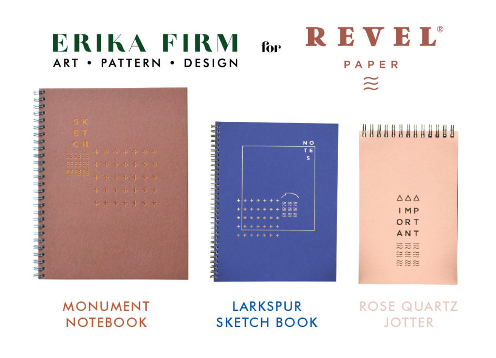 Erika Firm for Revel Paper notebook designs