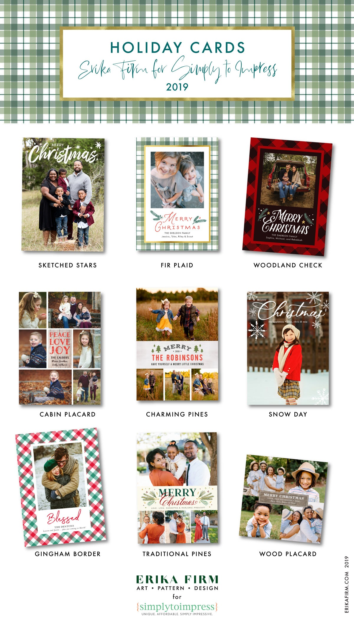 Holiday Card Collection 2019 by Erika Firm for Simply To Impress