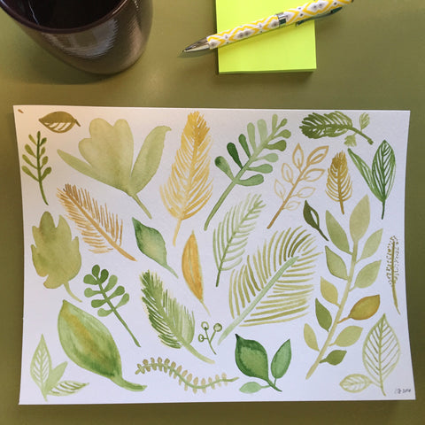 leaves illustrations by erika firm