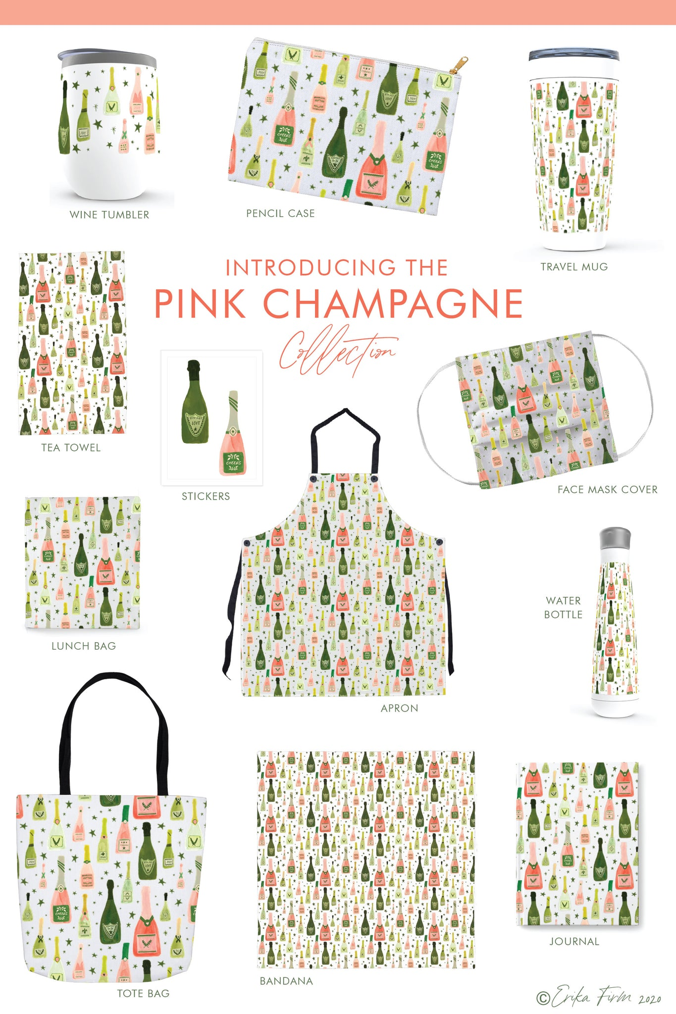 New Pink Champagne Collection by Erika firm