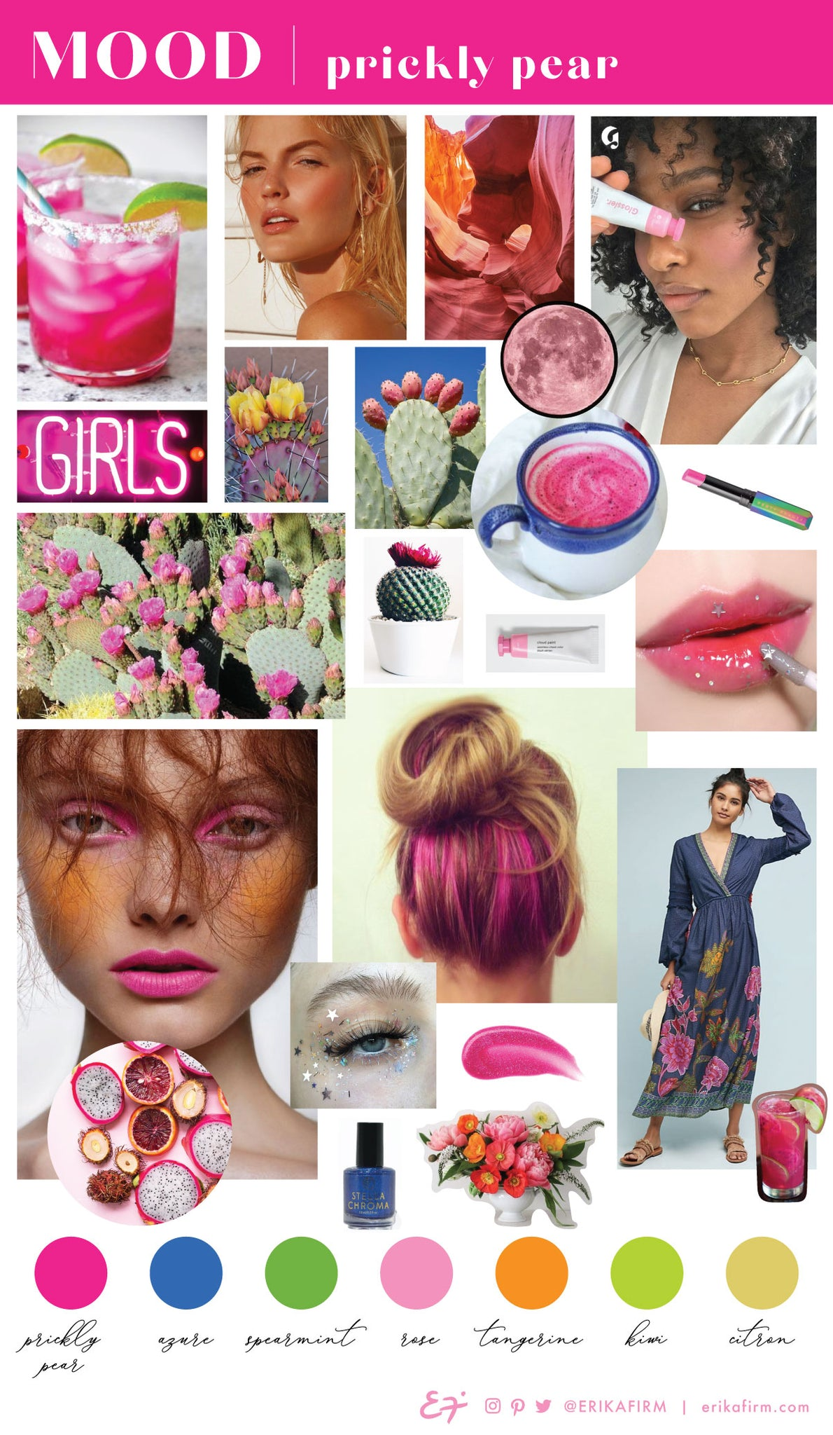 Prickly Pear Mood Board by Erika Firm