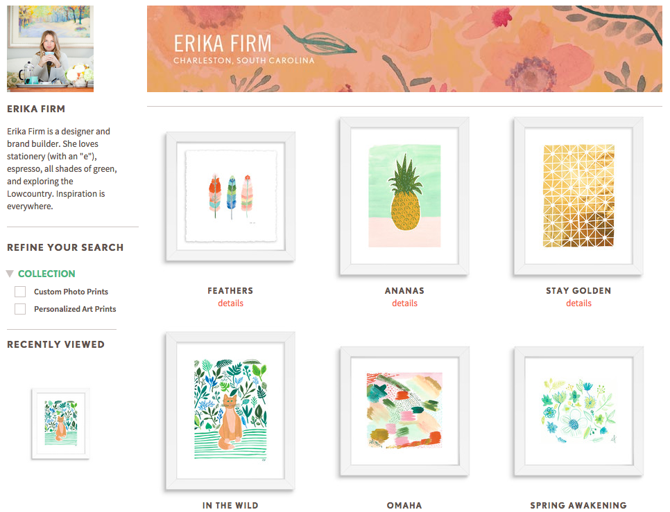 Erika Firm art for Simply To Impress