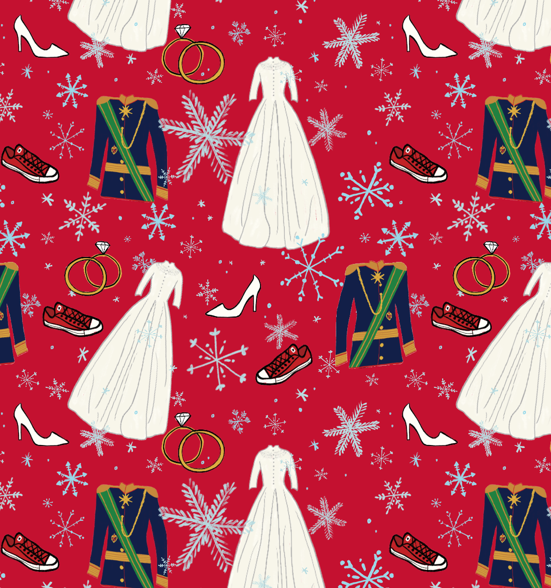 Pattern by Erika FIrm for Netflix for A Christmas Prince The Royal Wedding