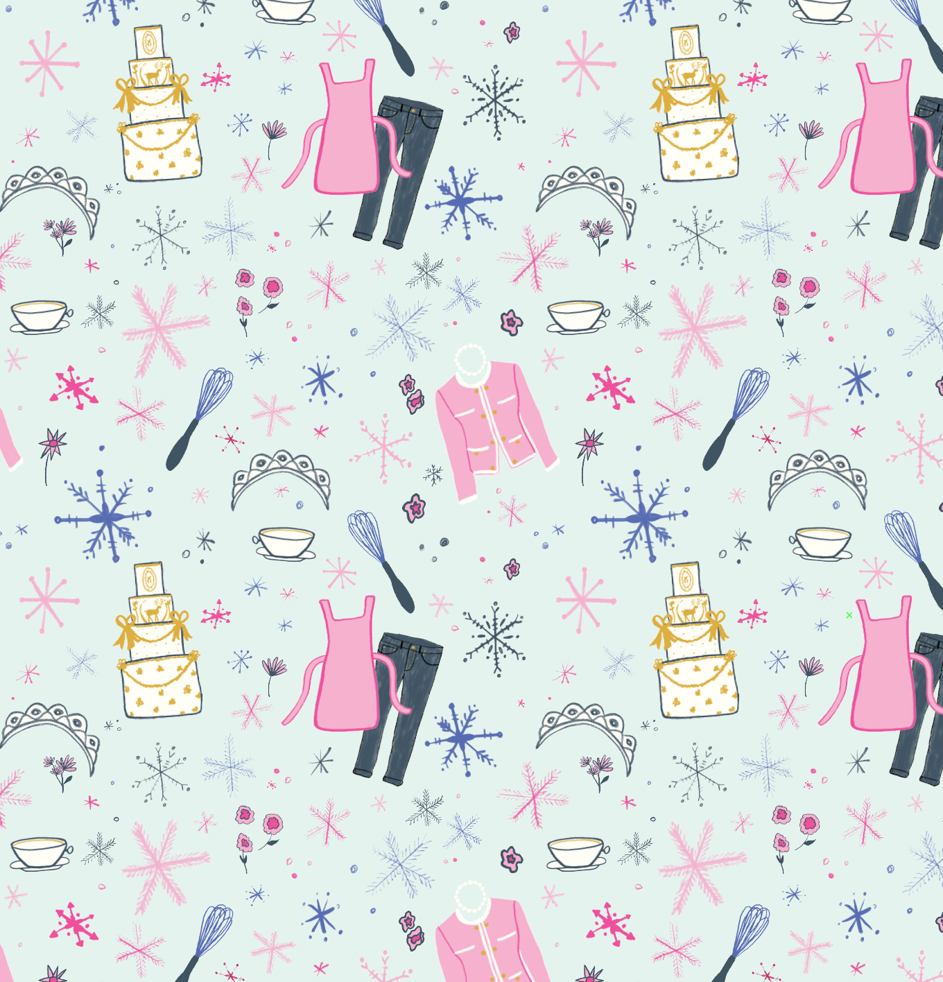 Pattern by Erika Firm for Netflix for The Princess Switch movie