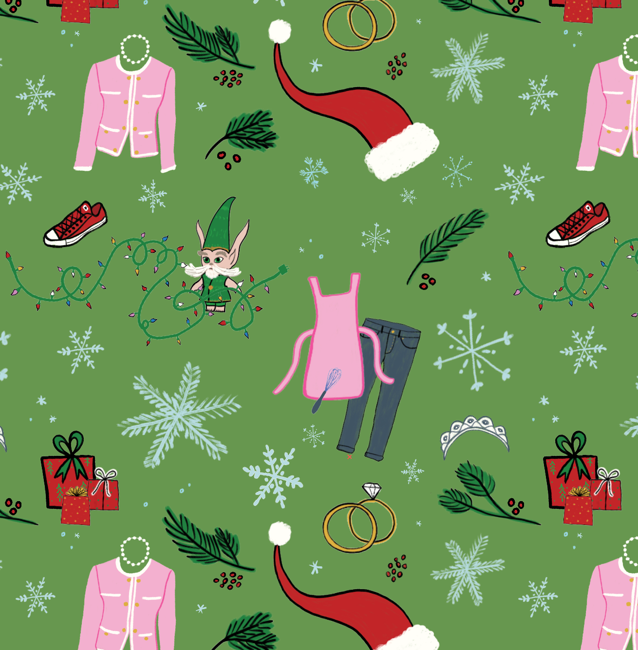 Pattern by Erika Firm for Netflix holiday 2018 patterns